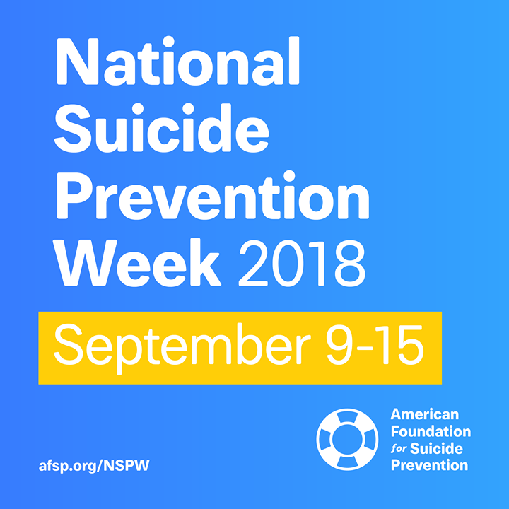 National Suicide Prevention Week 2018
