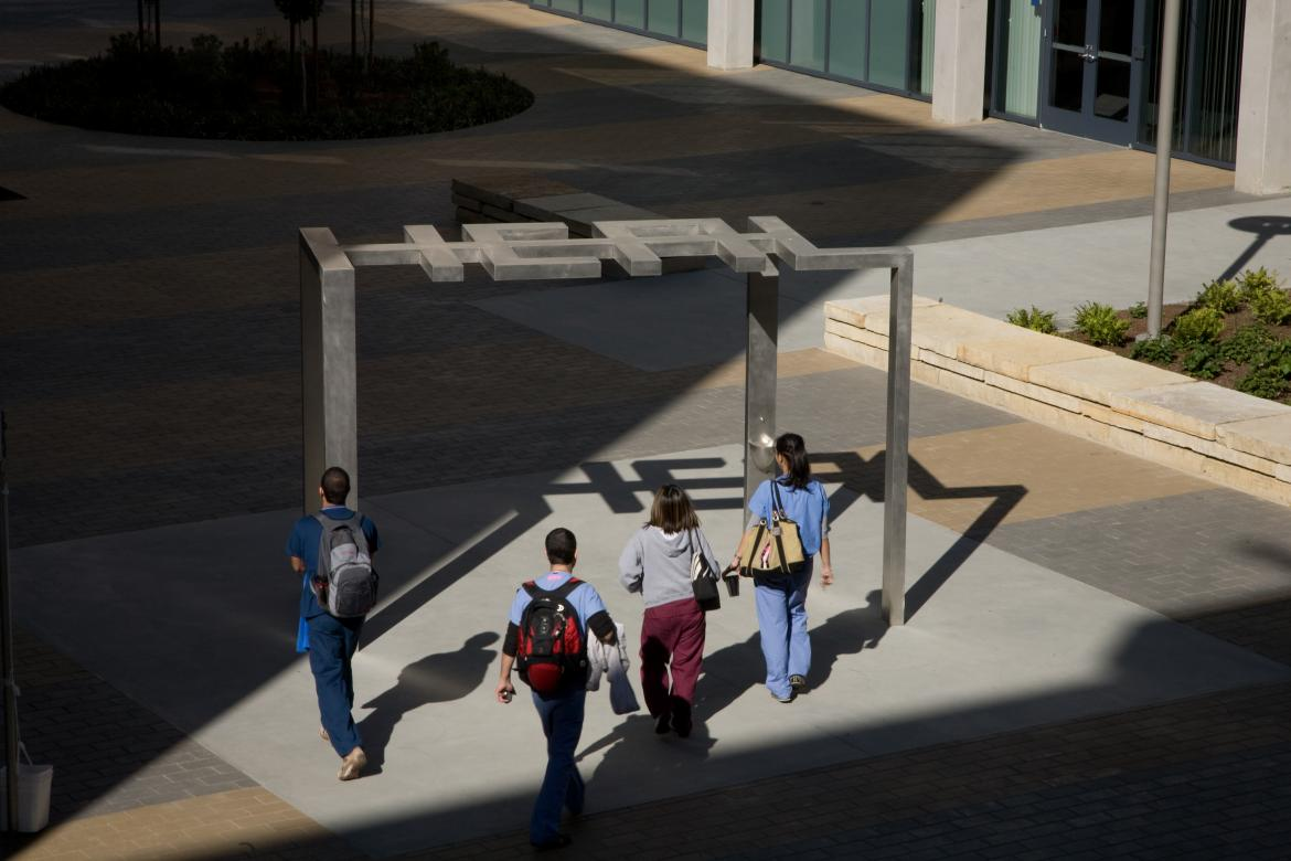 Students on Mission Bay campus