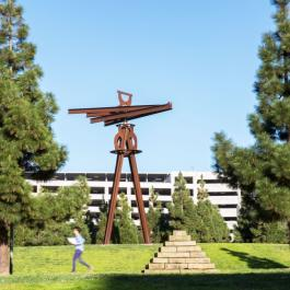 Dreamcatcher sculpture at UCSF Mission Bay